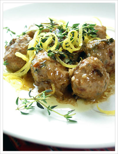 mekuno cooking: Pork Meatballs with Lemon and Thyme
